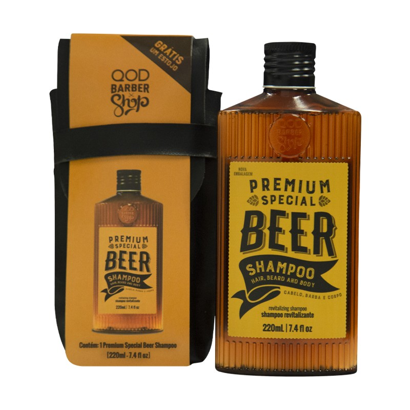 Kit Special Premium Beer Shampoo 220ml + Free Case - QOD Barber Shop 2