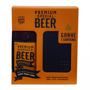 Kit Special Premium Beer Shampoo 220ml + Wallet - QOD Barber Shop 1