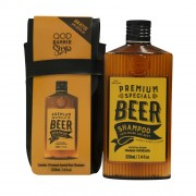 Kit Special Premium Beer Shampoo 220ml + Free Case - QOD Barber Shop